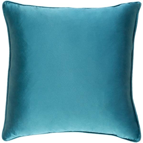 Decorative Verdi Teal Blue 18-inch Throw Pillow Cover