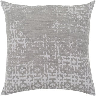 "Leopold Grey & White Feather Down Throw Pillow (20"" x 20"")"