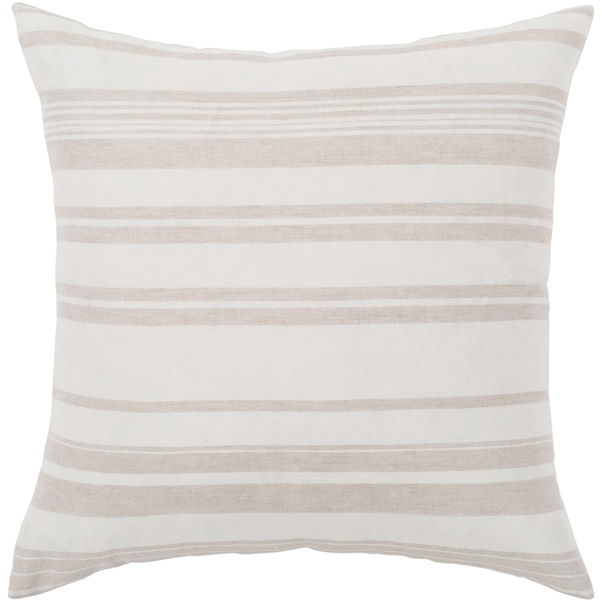 Astonishing Lawson Ivory Beige Striped Throw Pillow Cover 18 X 18 Gmtry Best Dining Table And Chair Ideas Images Gmtryco