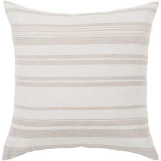"""Lawson Ivory & Beige Striped Throw Pillow Cover (18"""" x 18"""")"""