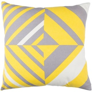 Decorative Wendover Yellow 18-inch Throw Pillow Cover