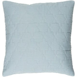 Decorative Wigan Sky Blue 20-inch Throw Pillow Cover