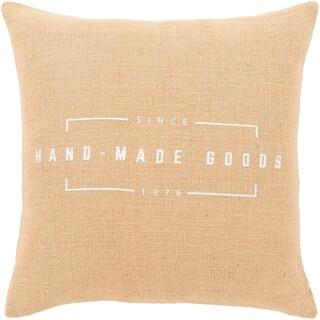"""Karson Wheat Modern Farmhouse Throw Pillow Cover (22"""" x 22"""")"""