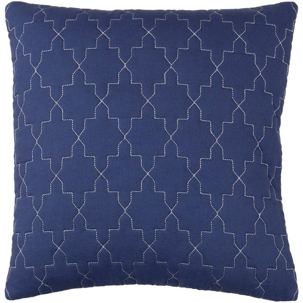 Decorative Wigan Navy 20-inch Throw Pillow Cover