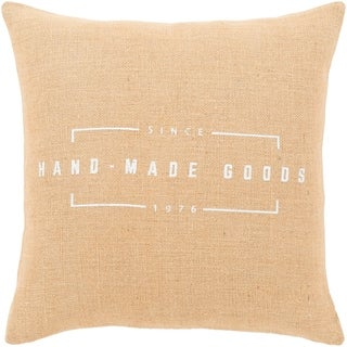 """Karson Wheat Modern Farmhouse Throw Pillow Cover (20"""" x 20"""")"""