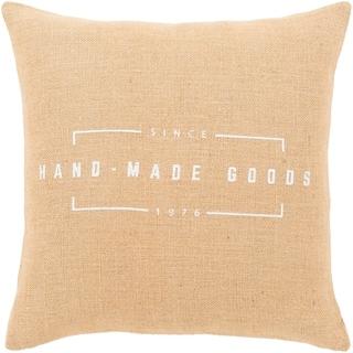 "Karson Wheat Modern Farmhouse Poly Fill Throw Pillow (20"" x 20"")"