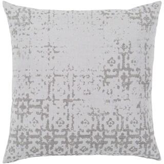 """Leopold White & Grey Poly Fill Throw Pillow (18"""" x 18"""")"""