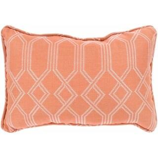 """Barcelona Coral Indoor/ Outdoor Throw Pillow (13"""" x 19"""")"""