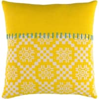 Decorative Turner Yellow 20-inch Throw Pillow Cover
