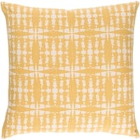 Decorative Staveley Yellow 20-inch Throw Pillow Cover