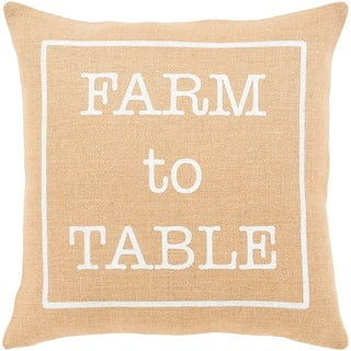 "Santiago Wheat Modern Farmhouse Throw Pillow Cover (22"" x 22"")"