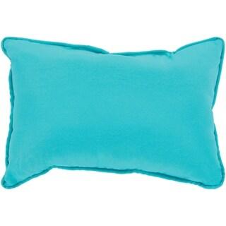 """Miguel Aqua Solid Indoor/ Outdoor Throw Pillow (13"""" x 19"""")"""