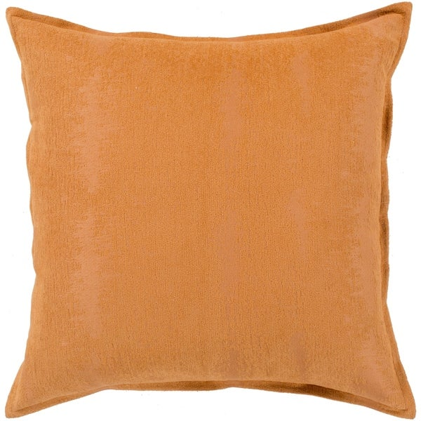 Alsace Orange Solid Chenille Throw Pillow Cover 18 X