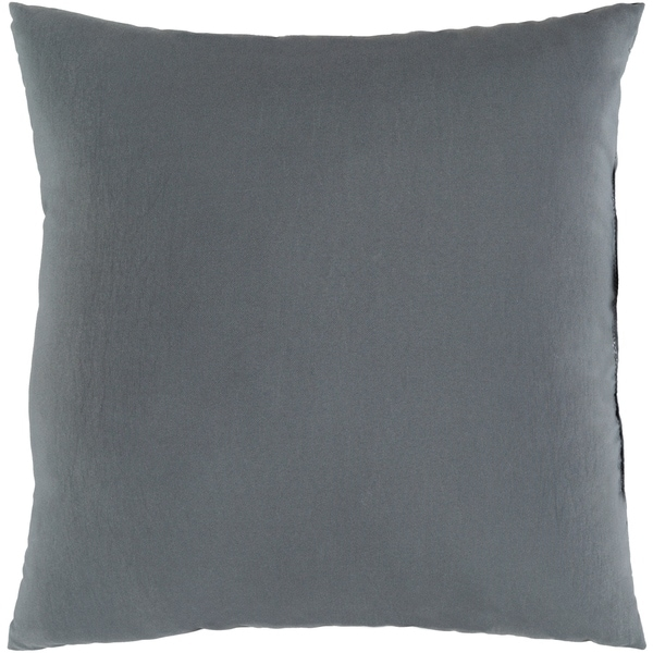 "Miguel Medium Grey Solid Indoor/ Outdoor Throw Pillow (20"" x 20"")"