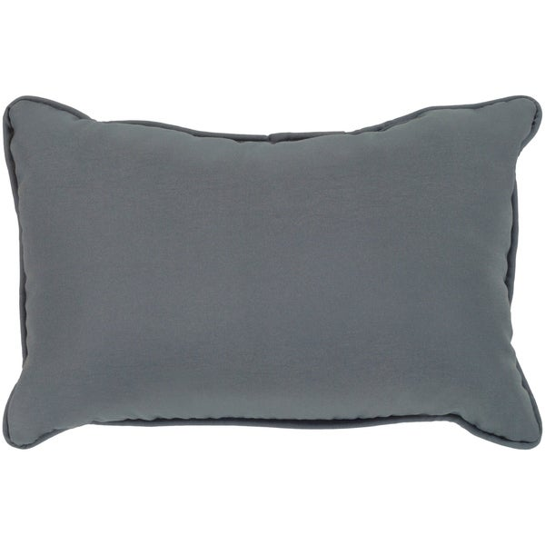 "Miguel Medium Grey Solid Indoor/ Outdoor Throw Pillow (13"" x 19"")"