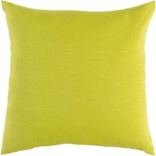"Miguel Lime Solid Indoor/ Outdoor Throw Pillow (16"" x 16"")"
