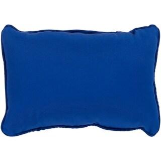 """Miguel Navy Solid Indoor/ Outdoor Throw Pillow (13"""" x 19"""")"""