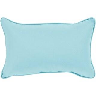 """Miguel Light Blue Solid Indoor/ Outdoor Throw Pillow (13"""" x 19"""")"""