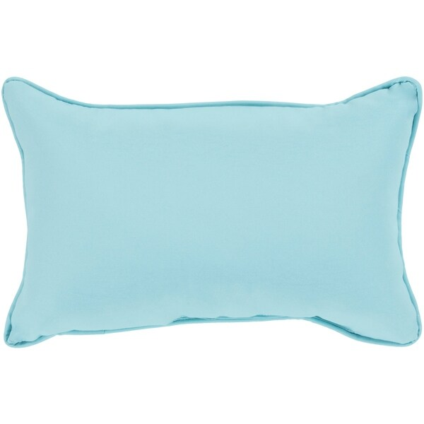 "Miguel Light Blue Solid Indoor/ Outdoor Throw Pillow (13"" x 19"")"