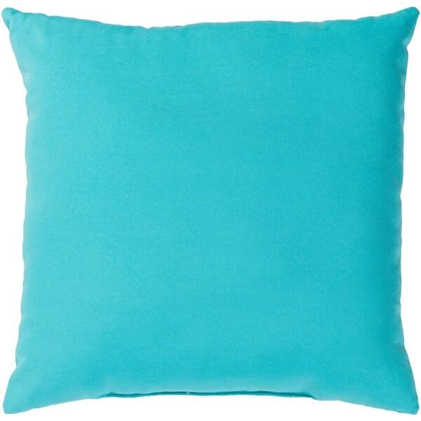 Shop Miguel Aqua Solid Indoor Outdoor Throw Pillow 16 X 16 On