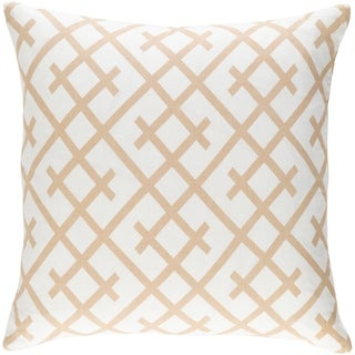 Decorative Water Tan 18-inch Throw Pillow Cover