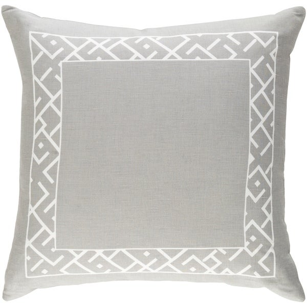 Decorative Yonge Grey 18-inch Throw Pillow Cover