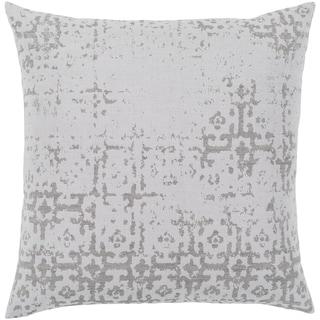 """Leopold White & Grey Throw Pillow Cover (18"""" x 18"""")"""