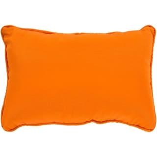 """Miguel Orange Solid Indoor/ Outdoor Throw Pillow (13"""" x 19"""")"""