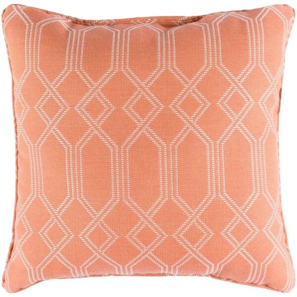 """Barcelona Coral Indoor/ Outdoor Throw Pillow (16"""" x 16"""")"""