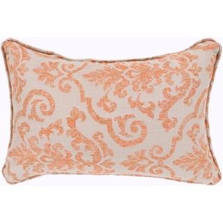 """Leia Orange Indoor/ Outdoor Throw Pillow (13"""" x 19"""")"""