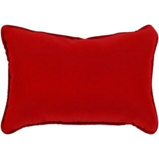 """Miguel Ruby Solid Indoor/ Outdoor Throw Pillow (13"""" x 19"""")"""
