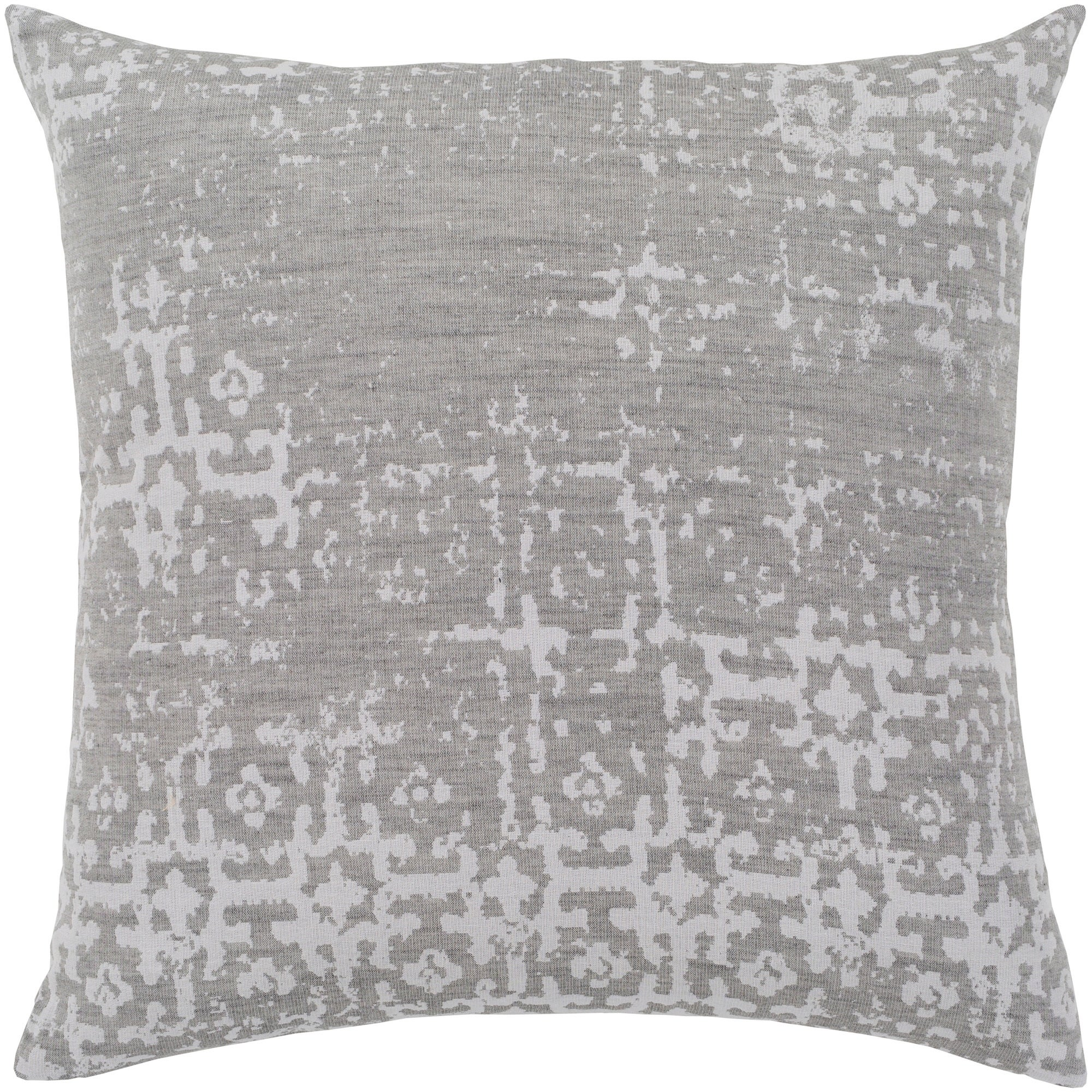 Shop Leopold Grey White Throw Pillow Cover 20 X 20 On Sale