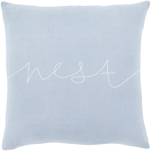 "Roost Denim Blue ""Nest"" Feather Down Throw Pillow (18"" x 18"")"