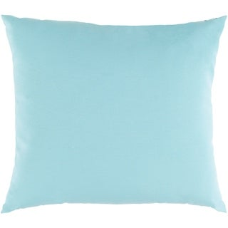 "Miguel Light Blue Solid Indoor/ Outdoor Throw Pillow (20"" x 20"")"