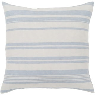 "Lawson Blue & White Striped Poly Fill Throw Pillow (20"" x 20"")"