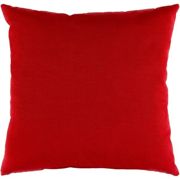 """Miguel Ruby Solid Indoor/ Outdoor Throw Pillow (20"""" x 20"""")"""