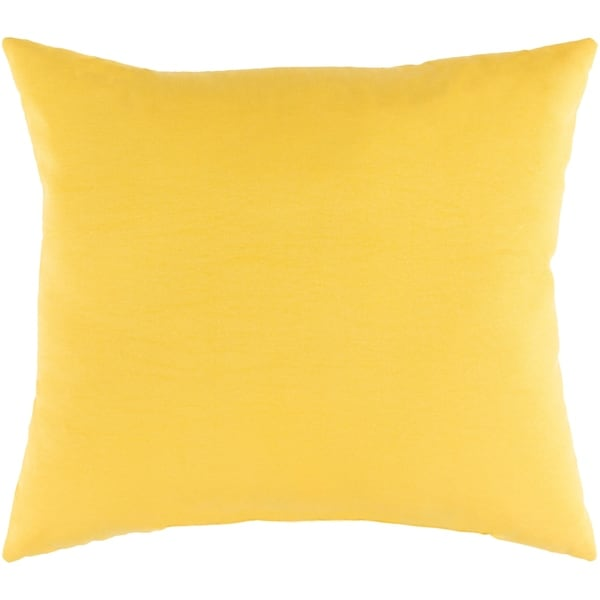 "Miguel Yellow Solid Indoor/ Outdoor Throw Pillow (16"" x 16"")"