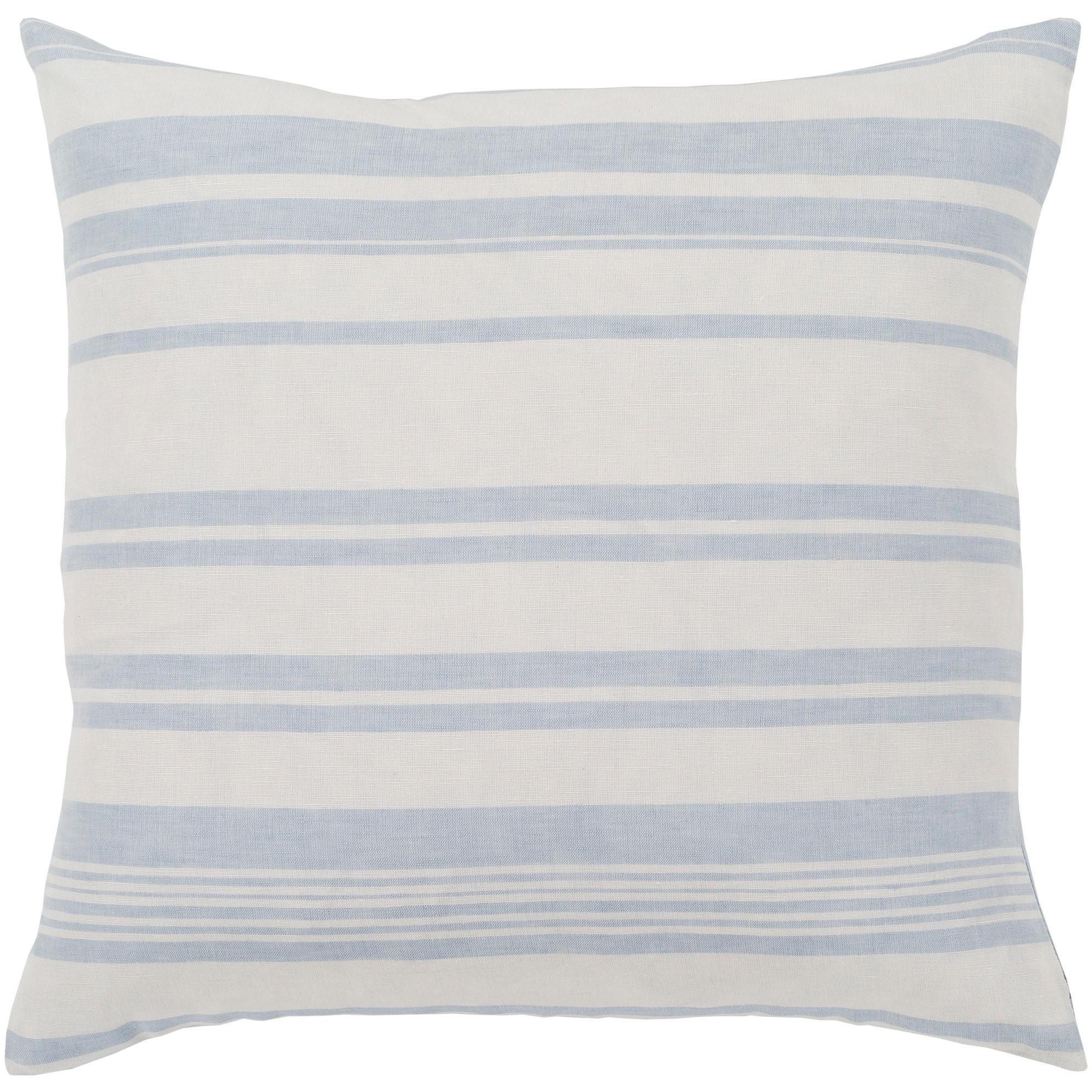 Blue White Striped Throw Pillow Cover