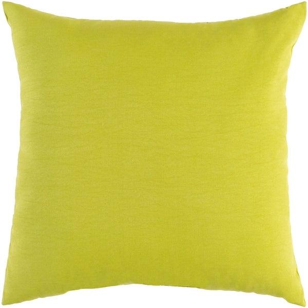 "Miguel Lime Solid Indoor/ Outdoor Throw Pillow (20"" x 20"")"