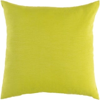 "Miguel Lime Solid Indoor/ Outdoor Throw Pillow (20"" x 20"")"