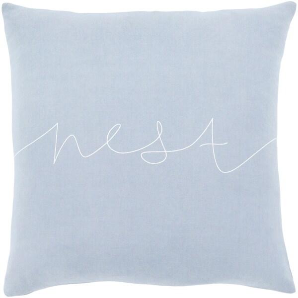 "Roost Denim Blue ""Nest"" Throw Pillow Cover (18"" x 18"")"