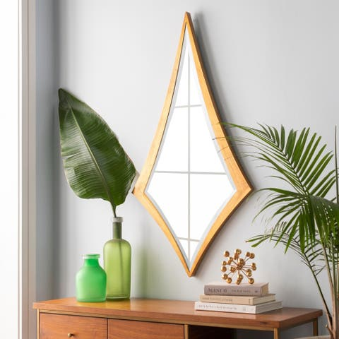 """Elliana Hand Gilded Harlequin Wall Mirror - 25"""" x 47"""""""