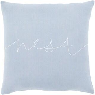 "Roost Denim Blue ""Nest"" Throw Pillow Cover (22"" x 22"")"