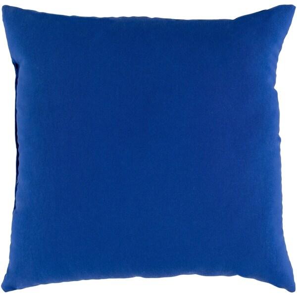 """Miguel Navy Solid Indoor/ Outdoor Throw Pillow (16"""" x 16"""")"""