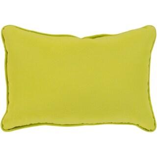 "Miguel Lime Solid Indoor/ Outdoor Throw Pillow (13"" x 19"")"