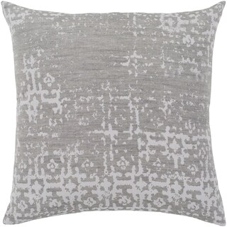 "Leopold Grey & White Feather Down Throw Pillow (18"" x 18"")"