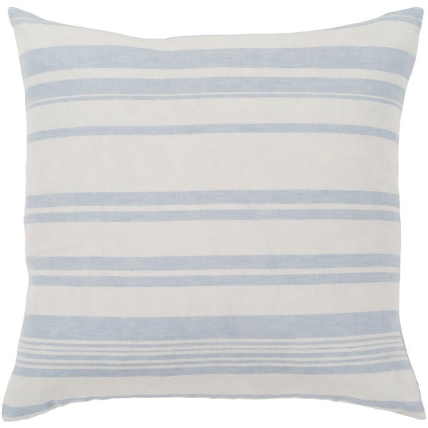 "Lawson Blue & White Striped Feather Down Throw Pillow (20"" x 20"")"
