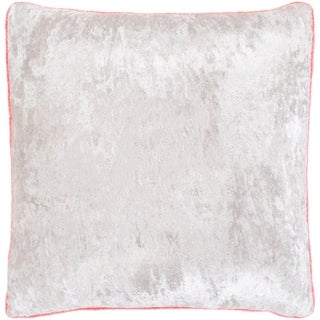 "Selena Pink & Ivory Crushed Velvet Throw Pillow Cover (22"" x 22"")"