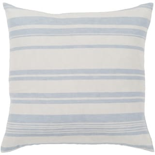 "Lawson Blue & White Striped Feather Down Throw Pillow (18"" x 18"")"