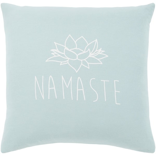 """Blessed Blue """"Namaste"""" Throw Pillow Cover (22"""" x 22"""")"""